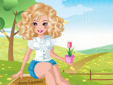 Anny in the garden dressup